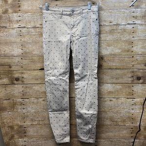 Gold Polka Dot Skinny Jean